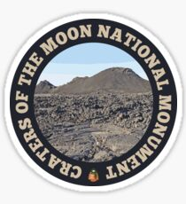 Craters of the Moon National Monument circle Sticker