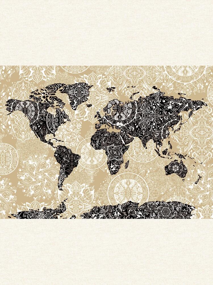 mandala mapa mundial 3 de BekimART