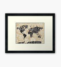 world map mandala 3 Framed Print