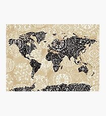 Weltkarte Mandala 3 Fotodruck