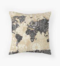 Cojín mandala mapa mundial 3