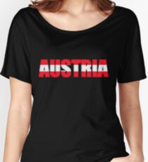 Austria Osterreich Flag  Women's Relaxed Fit T-Shirt