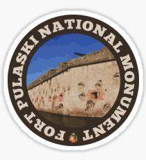 Fort Pulaski National Monument circle Sticker