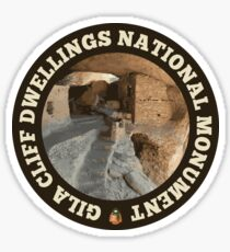 Gila Cliff Dwellings National Monument circle Sticker