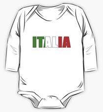 Italy Italia Flag  One Piece - Long Sleeve