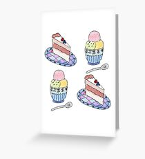 Cake and Ice Cream Greeting Card