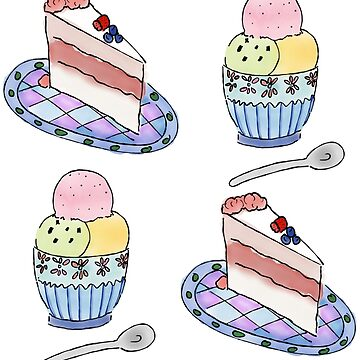 Cake and Ice Cream by clairesalcedo