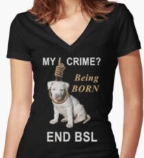 End BSL Women's Fitted V-Neck T-Shirt