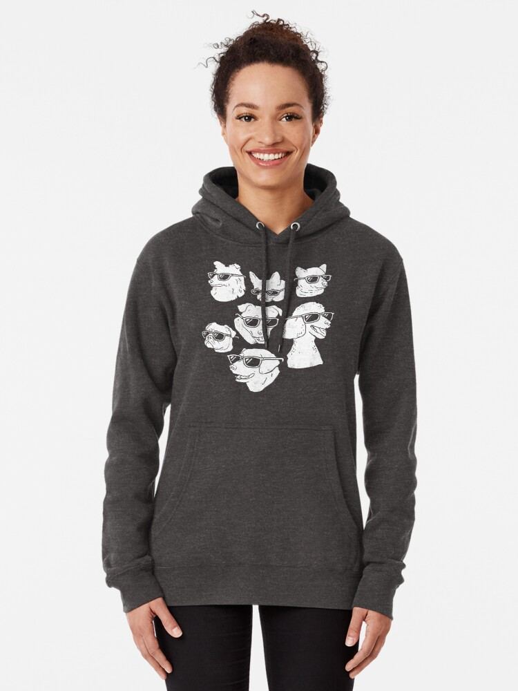 Alternate view of Dog Dogs Pullover Hoodie