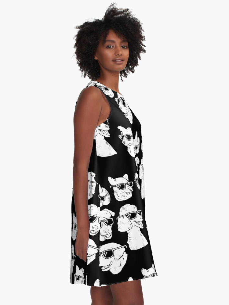 Alternate view of Dog Dogs A-Line Dress