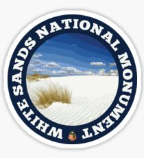 White Sands National Monument circle Sticker