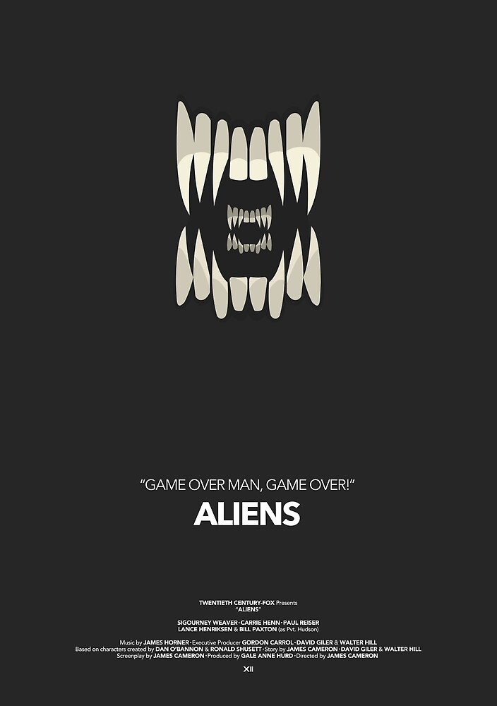 Aliens Movie Poster by byxii