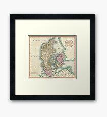 Vintage Map of Denmark (1801) Framed Print