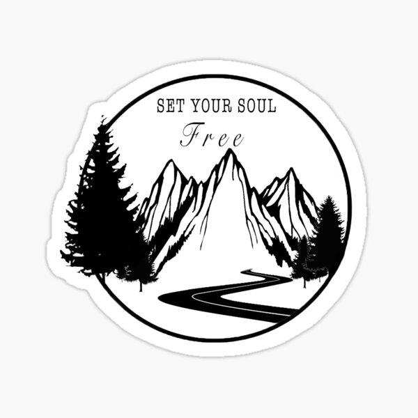 Set your soul free Sticker
