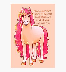 """""""Reduce Everything Down"""" Pony Photographic Print"""
