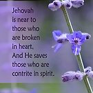 Broken Hearted ~ Psalm 34:18 by Robin Clifton