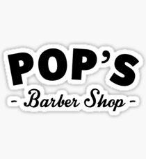 Pop's Barber Shop Sticker