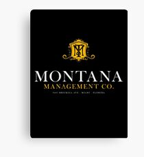 Montana Management Co (aged look) Canvas Print