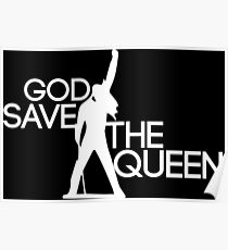 God save the queen Freddie Mercury design Poster