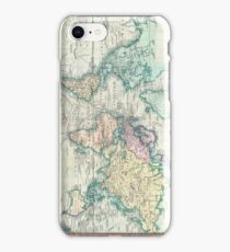Vintage Map of The World (1801) iPhone Case/Skin