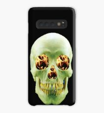 Skull with eyes of fire Case/Skin for Samsung Galaxy
