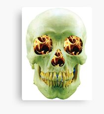 Skull with eyes of fire Canvas Print