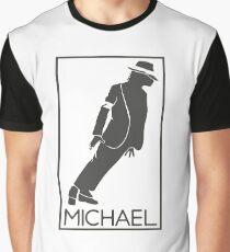 Silueta de el Rey del pop Michael Jackson Graphic T-Shirt