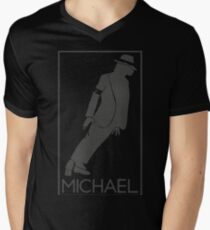Silueta de el Rey del pop Michael Jackson Mens V-Neck T-Shirt