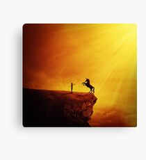 How to tame a unicorn? Canvas Print