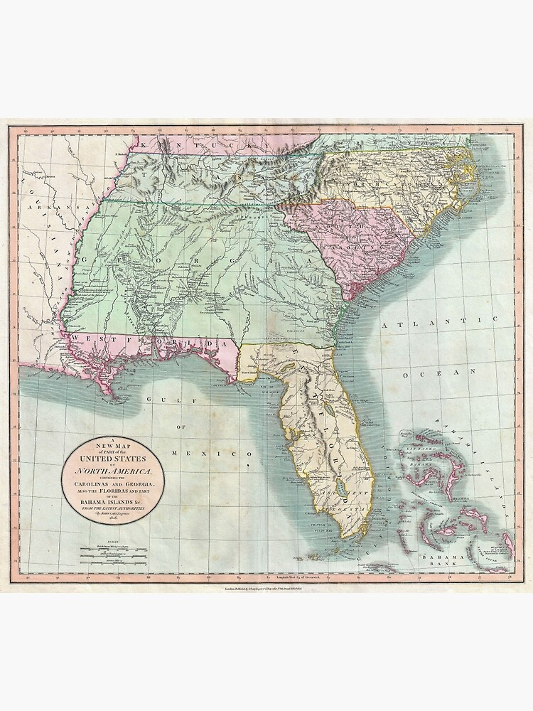 Vintage Map of The Southeastern U.S. (1806) | Poster on flat map of united states, printable flat map, flat map pennsylvania, world map, sua flat map, america flat map, chantry flats map, flat globe, flat map of countries, flat map of asia, future of the united states map, usa map, a flat map, flat global map, 48 united states map, red state blue state map, flat europe map, empty states map, flat continent map, globe flattened to map,