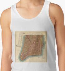 Camiseta de tirantes Vintage Map of Lower New York City (1807)