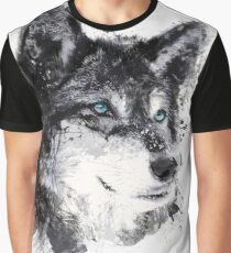 Watercolor wolf Graphic T-Shirt