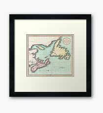 Vintage Map of Nova Scotia and Newfoundland (1807) Framed Print