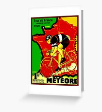 TOUR DE FRANCE; Vintage Cycle Racing Advertising Print Greeting Card