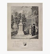 535 The Actor's Monument the late Edmund Kean Esqre contemplating the tomb he caused to be erected to the memory of George Frederick Cooke in Saint Paul's Church Yard Photographic Print
