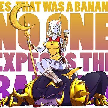 No one expects the banana - Soraka/Warwick by Katanagraphix
