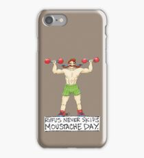 Rufus Never Skips Moustache Day. iPhone Case/Skin