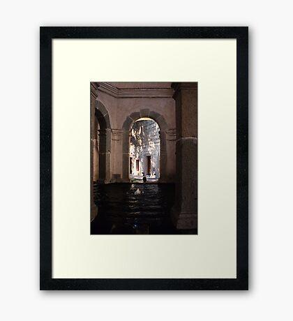 Fountain, Oaxaca Framed Print