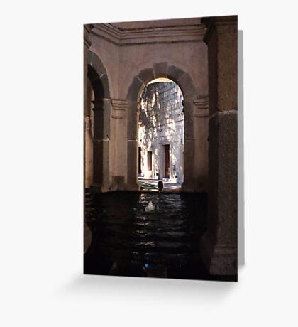 Fountain, Oaxaca Greeting Card