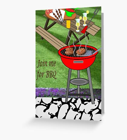 Invitation to a BBQ Party (1478  Views) Greeting Card