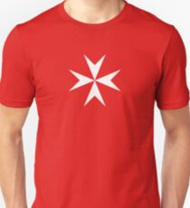 Maltese Cross Flag T-Shirt T-Shirt
