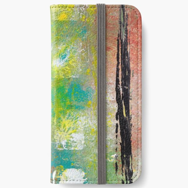 Autumn Blanket Abstract Painting iPhone Wallet
