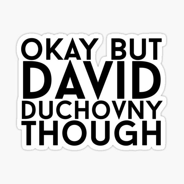 David Duchovny Sticker