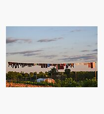 Amish Clothesline Photographic Print