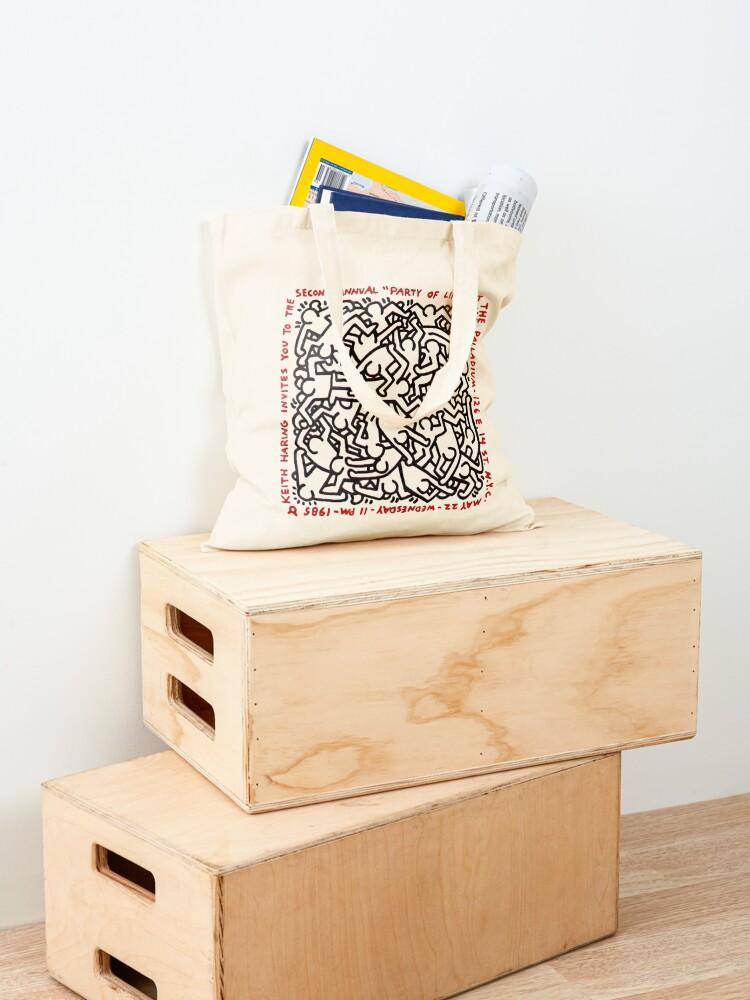 Alternate view of haring pop art Tote Bag