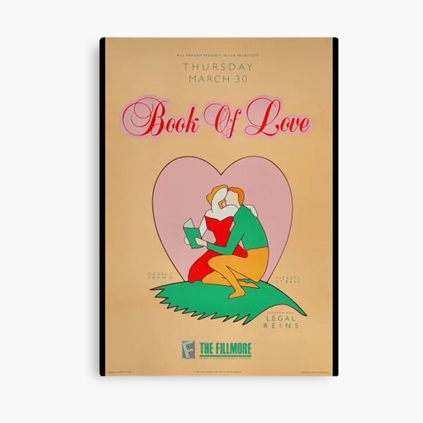 Book of Love Poster Canvas Print