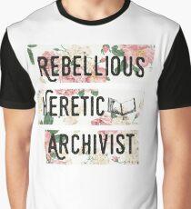 Rebellious Heretic Archivist Graphic T-Shirt