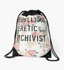 Rebellious Heretic Archivist Drawstring Bag
