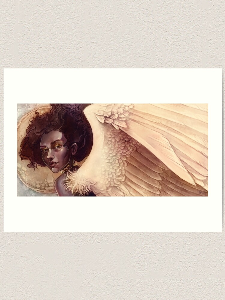 Alternate view of Golden angel Art Print