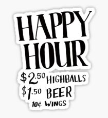 Happy Hour Drink Special Sticker